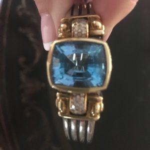 REAL vintage Lagos aquamarine statement bracelet.